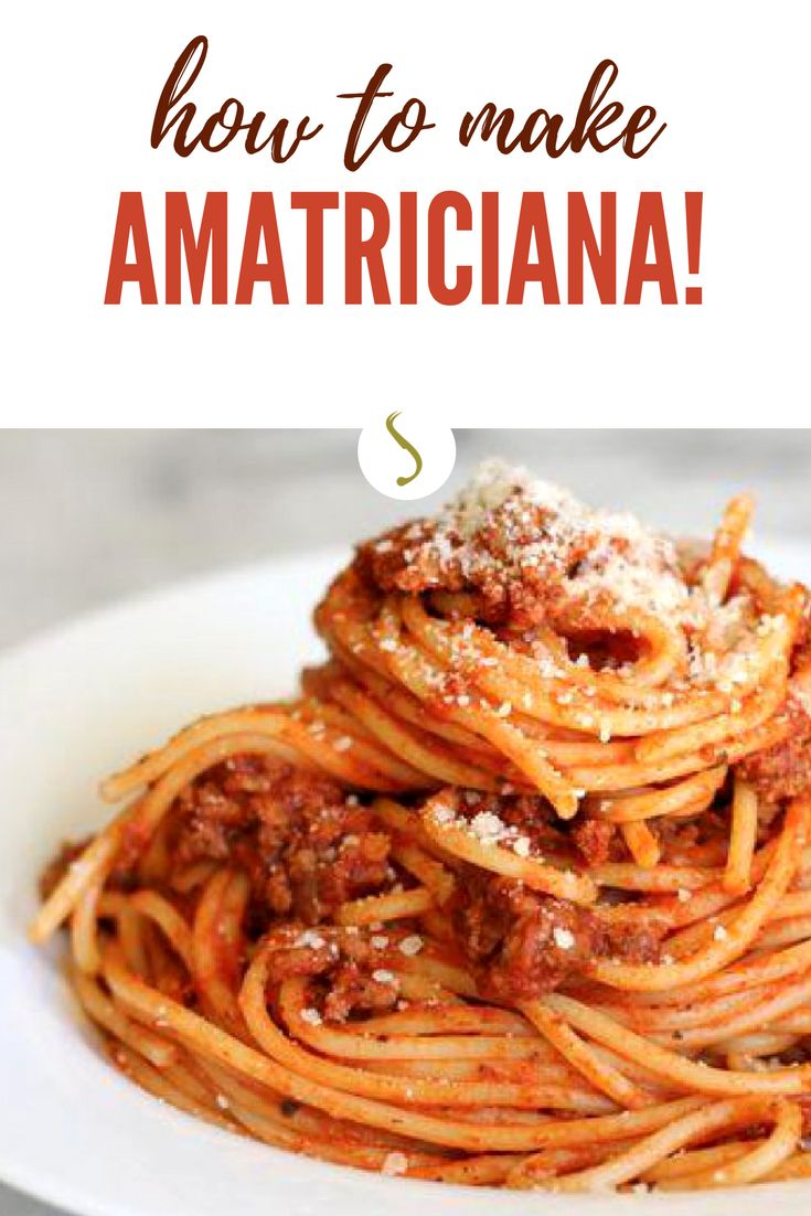 The bucatini Amatriciana are a  tasty Italian dish. Follow our tips and you will make the best pasta Amatriciana recipe of your life! Do it Now! #amatriciana #italianfood #italianrecipes #pasta #pastarecipes