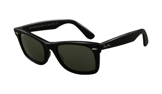 Ray Ban RB2151 Wayfarer Sunglasses Black Frame Crystal Green Len