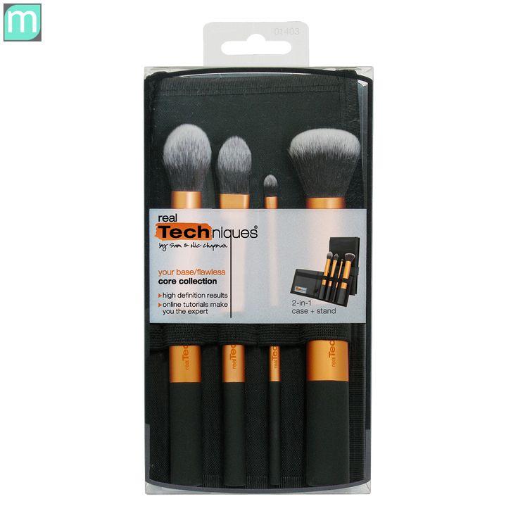 """Bộ cọ Real Techniques Core Collection ( màu cam ) giúp bạn trang điểm chuyên nghiệp hơn bao giờ hết. Bộ gồm 4 cây cọ vừa giúp tán nền, phủ phấn, blend kem che khuyết điểm và phủ đều lớp son môi, nhiệm vụ nào cũng được từng cây cọ hoàn thành """"xuất sắc""""."""