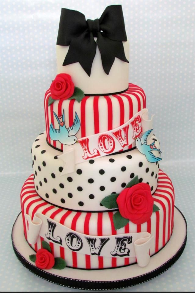 'LOVE' Wedding cake - For all your cake decorating supplies, please visit craftcompany.co.uk