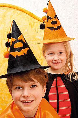 Halloween-Hüte basteln - Familie.de