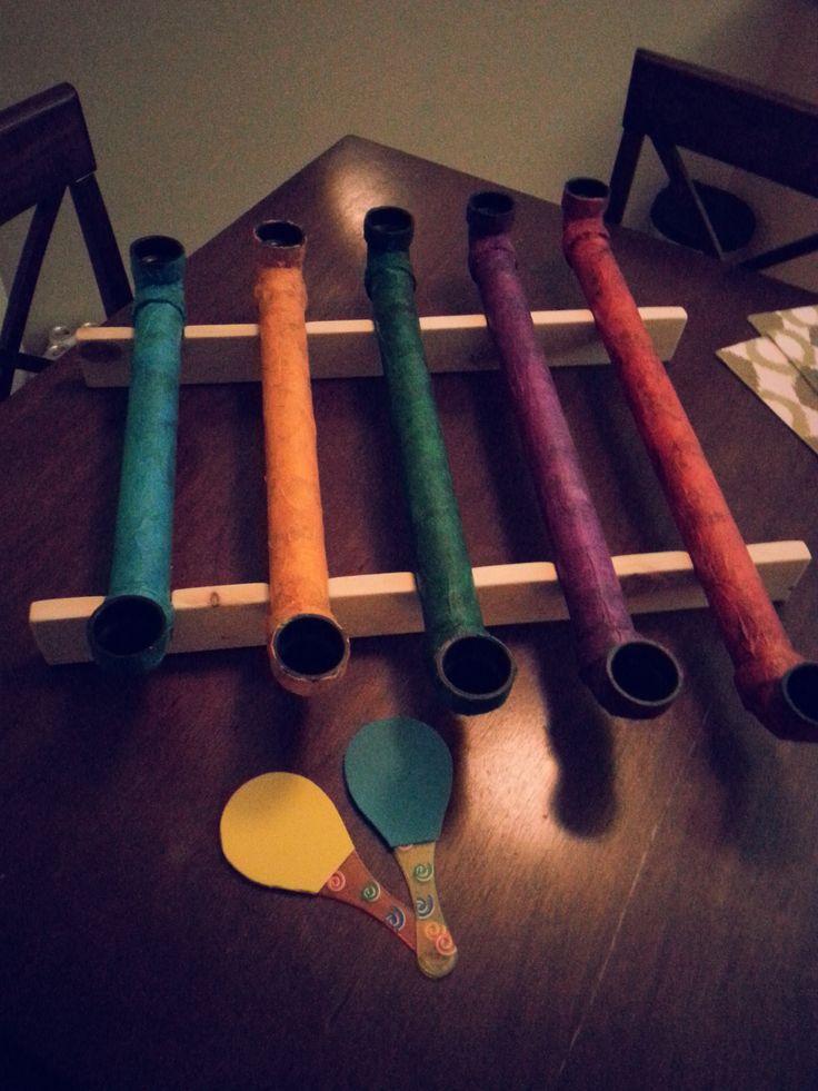 Homemade musical instrument - thongophone