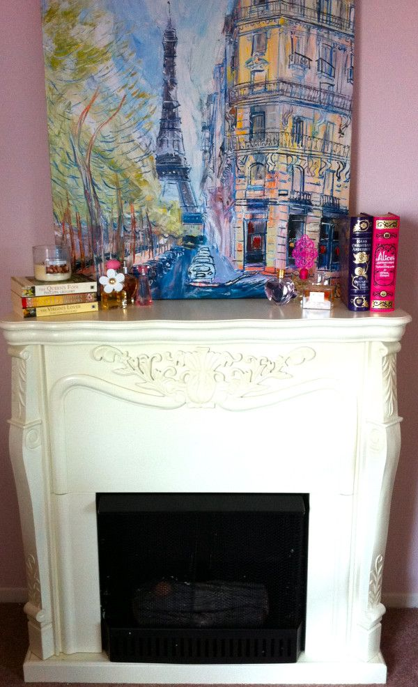 Elle Fowler's Fireplace in her bedroom. Fireplace by Southern Enterprise.