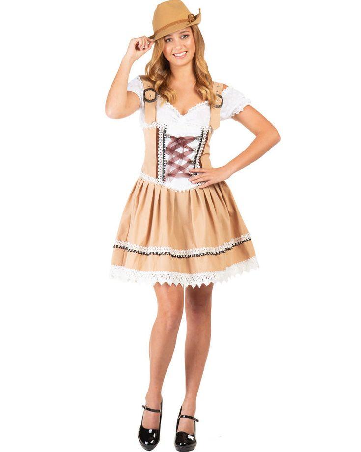 KostümBox Gretl Oktoberfest Dirndl Plus Size Damenkostüm – Halloween Costumes
