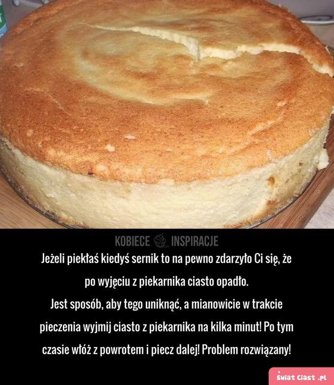Problem z opadającym sernikiem! - Swiatciast.pl