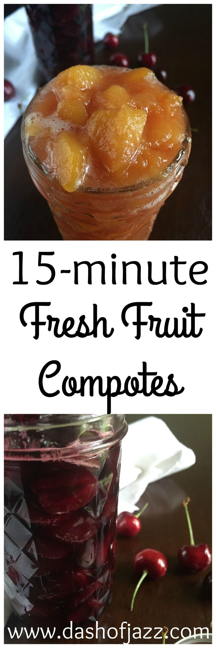 3 fresh fruit compote recipes for topping anything from ice cream to pancakes! These come together in just 15 minutes.