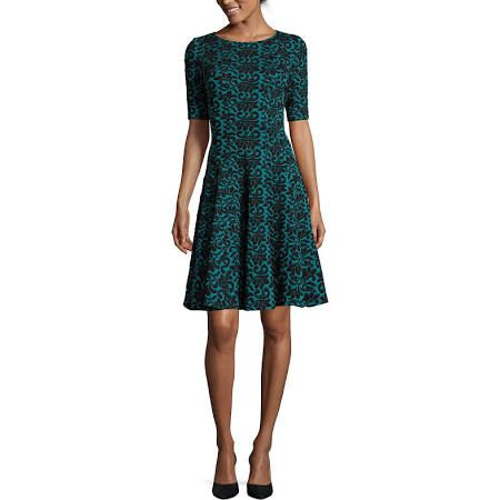 long-sleeved dress with a pretty pattern