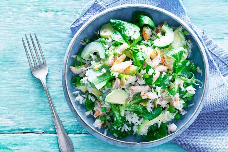 Rijst met groenten, wasabimayo en krab. Wat een perfecte combinatie - Recept - Allerhande