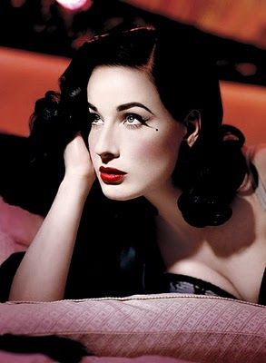 Dita Von Teese is so beautiful. I want her hair for my wedding.