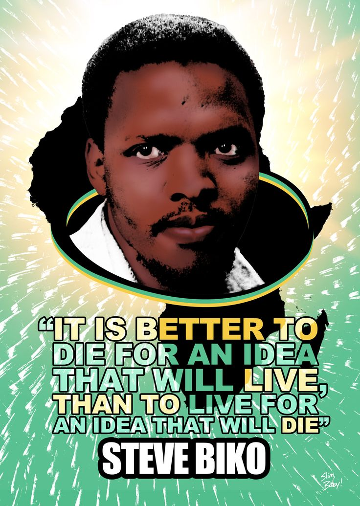Steve Biko. Son: Nkosinathi Biko who has kept his father's legacy.