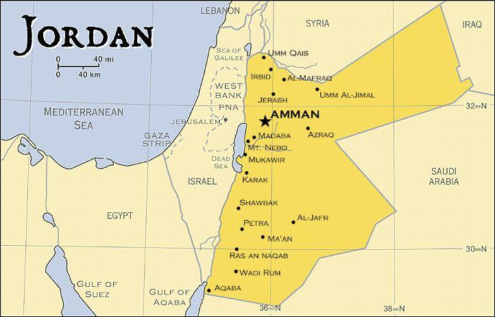 Jordan Map Map Of Jordan Jordan Map In English