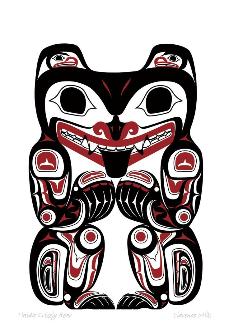 haida grizzly bear by clarence mills first nations art pinterest nortwest coastal native. Black Bedroom Furniture Sets. Home Design Ideas