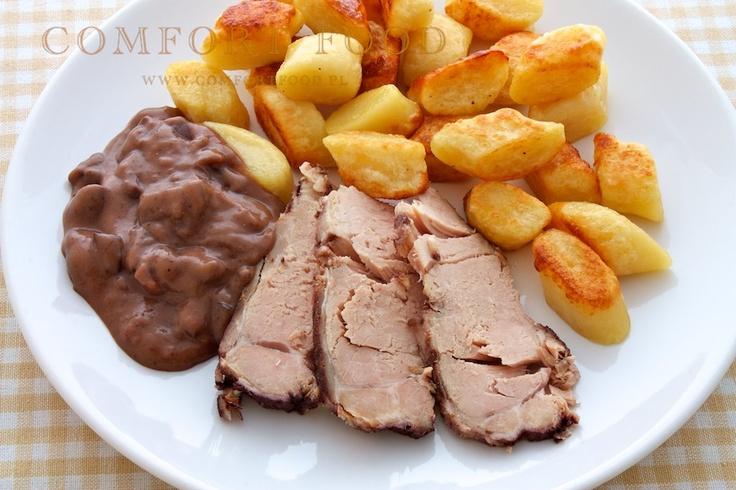 COMFORT FOOD - gotowanie w wolnowarze: Schab na dziko w czerwonym winie