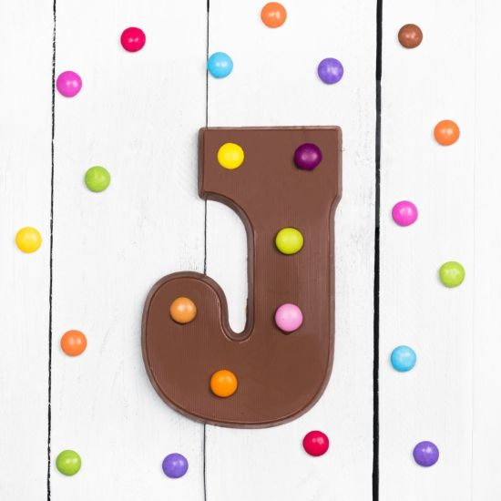 Giant Chocolate Letter With Smarties
