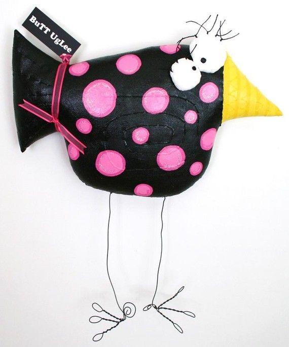 BirD NaMed MaDori ... BuTT UgLee ... big black with pink polka dots