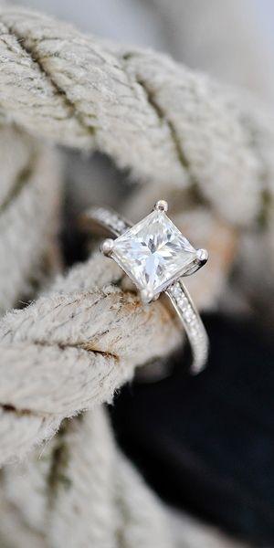Love this princess cut, and diamonds