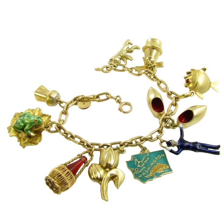Charm Bracelets Gold: CARTIER Gold Bracelet With Charms