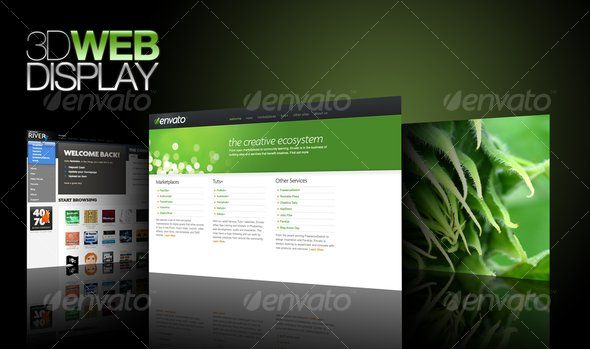 #3d #Web Display - Miscellaneous Web Elements Download here: https://graphicriver.net/item/3d-web-display/40909?ref=alena994