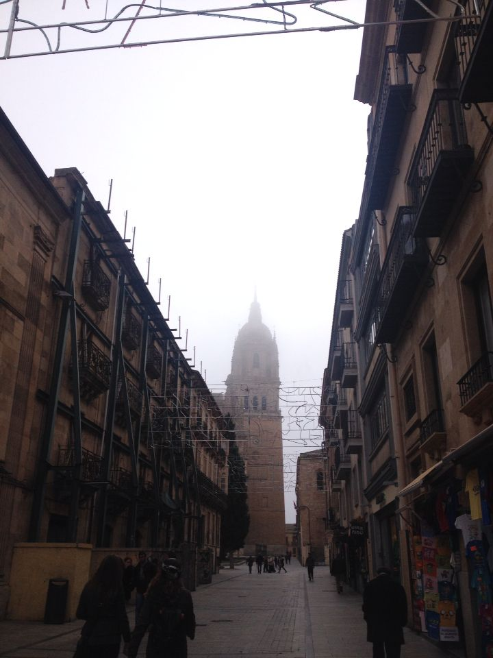 Fog. Foggy day. Salamanca