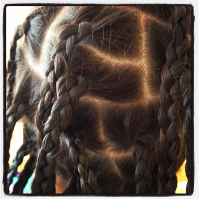 My daughters braided hair - Bahamas