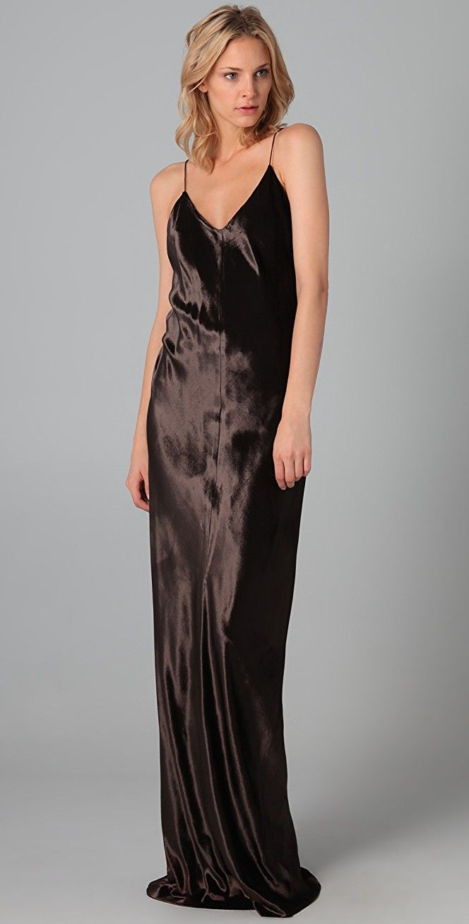 91a4f9065f4b T by Alexander Wang Panne Velvet Long Dress | 15% off 1st app order use  code: 15FORYOU