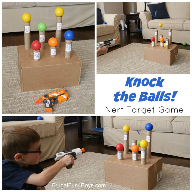 Use a nerf gun to shoot down a target to select your