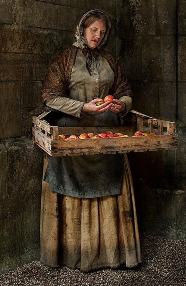 "A scene from Dickens, "" ave an apple sir,"" the blind lady called to me, It was Christmas, after all so I tossed her in a few schillings. """