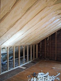 Thinking about spray foam insulation? What to know about closed cell foam for an old house.