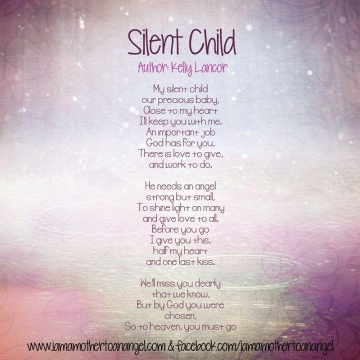 poems for loss of child | Silent child #poem #loss #stillbirth