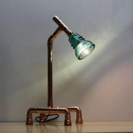 EL MUNDO DEL RECICLAJE: Recicla aisladores de vidrio para hacer una lámpara