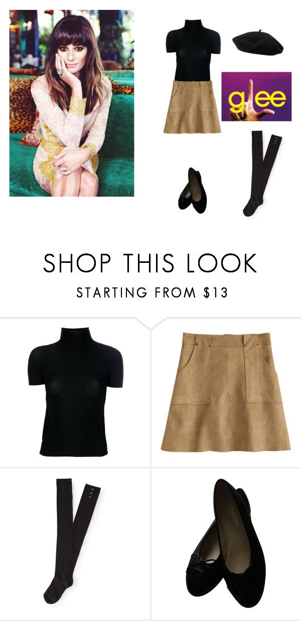"""""""Rachel Berry - NYFW"""" by leah-baritone ❤ liked on Polyvore featuring Issey Miyake Cauliflower, Aéropostale, Chanel, Goorin, NYFW, glee, CelebrityStyle and leamichelle"""
