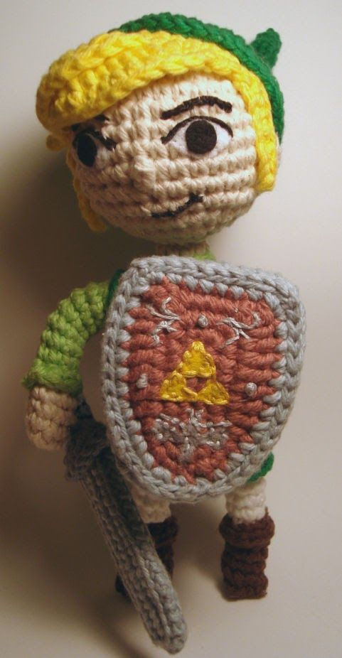 """2000 Free Amigurumi Patterns: """"Toon Link"""" - Character from the """"Legend of Zelda"""" computer game"""