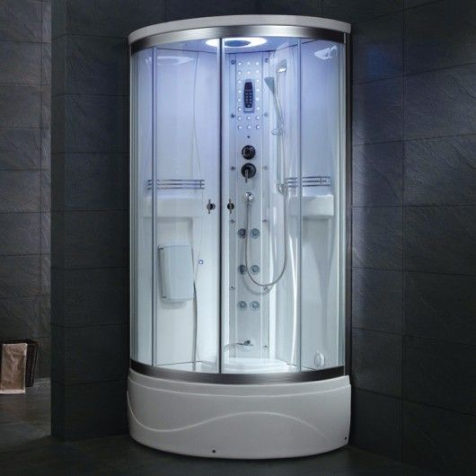 Ariel 36 In X 83 Steam Shower Enclosure Kit White At The Home Depot