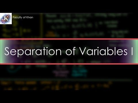 Solving the 1-D Heat/Diffusion PDE by Separation of Variables (Part 1/2) - YouTube