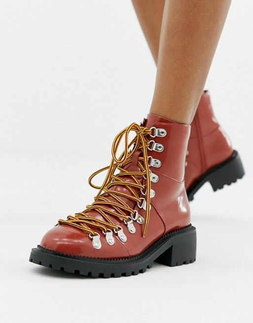 3f87764e070 DESIGN Ablaze chunky hiker boots in 2019 | Shoes | Boots, Hiking ...