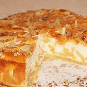 Яблочный пирог с творожн…