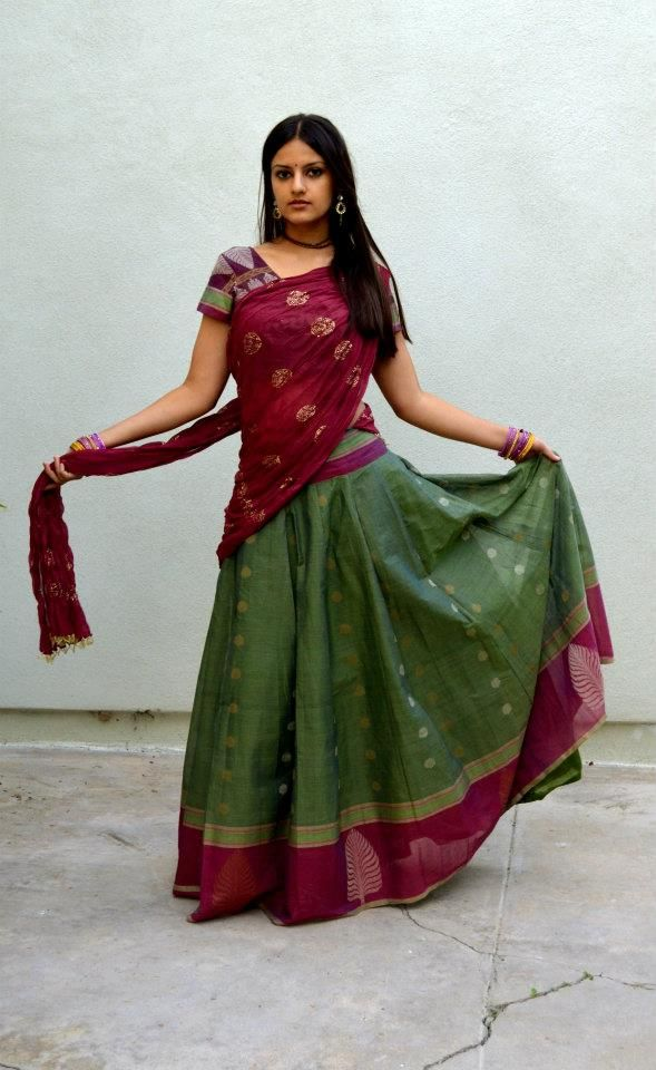 12 Best Traditional Andhra Half Saree Images On Pinterest