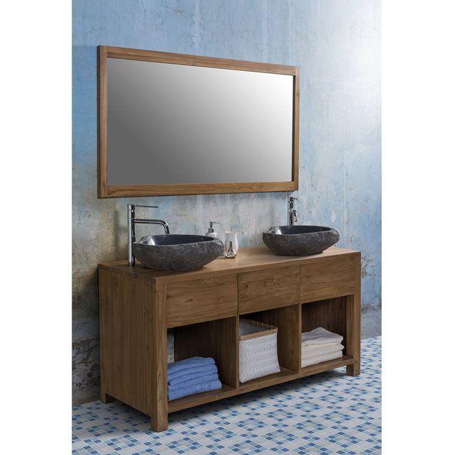 Les 25 meilleures id es de la cat gorie salle de bain teck for Meuble 2 vasques 110 cm