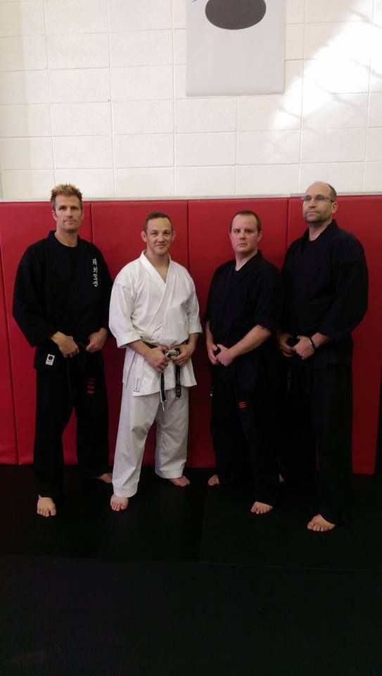"""Sensei Jason earns his 3rd degree in karate earning the title """"Renshi"""". Congrats, Renshi Jason!"""