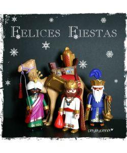 tarjeta felices fiestas reyes magos #playmobil disponible en playmyplanet.com