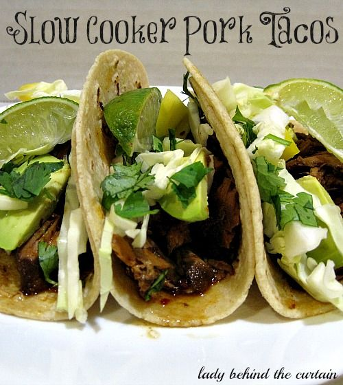 Lady Behind The Curtain - Slow Cooker Pork Tacos