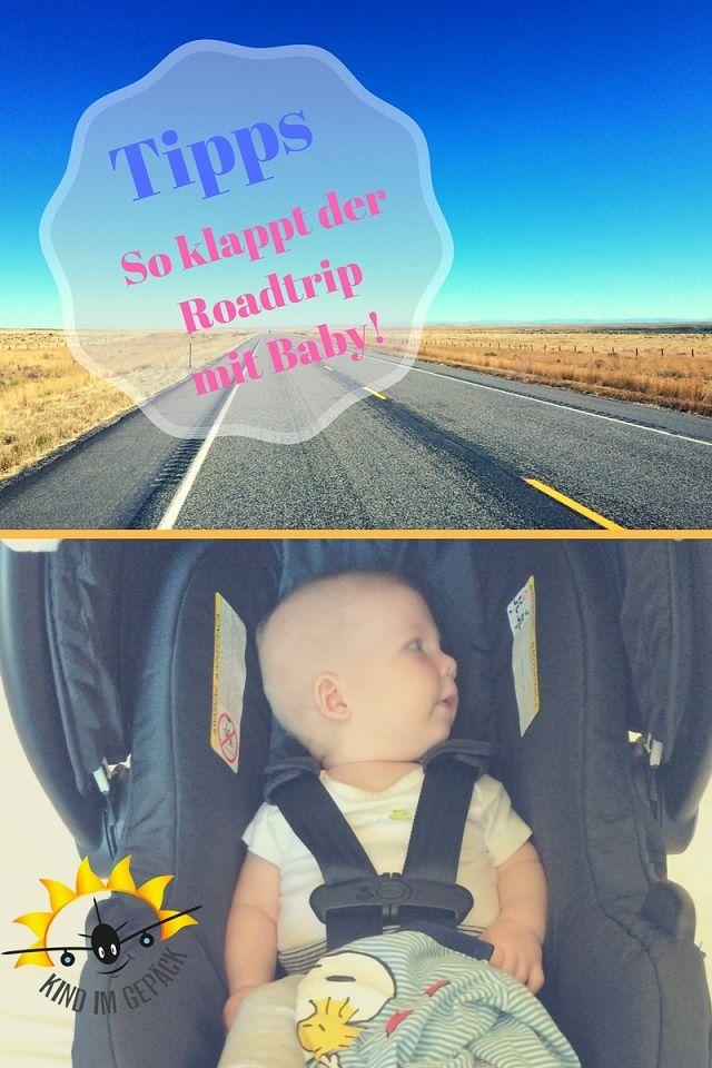 Roadtrip mit Baby! Diese Tipps helfen mit Baby längere Strecken im Auto unterwegs zu sein.