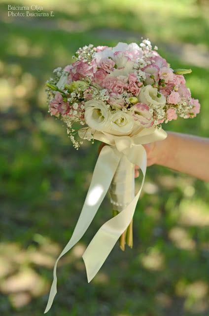 Baiciurina Olga's Design Room: Tender,aerly peony&roses wedding bouquet -Нежный,воздушный свадебный букет из роз,пионов и эустомы.