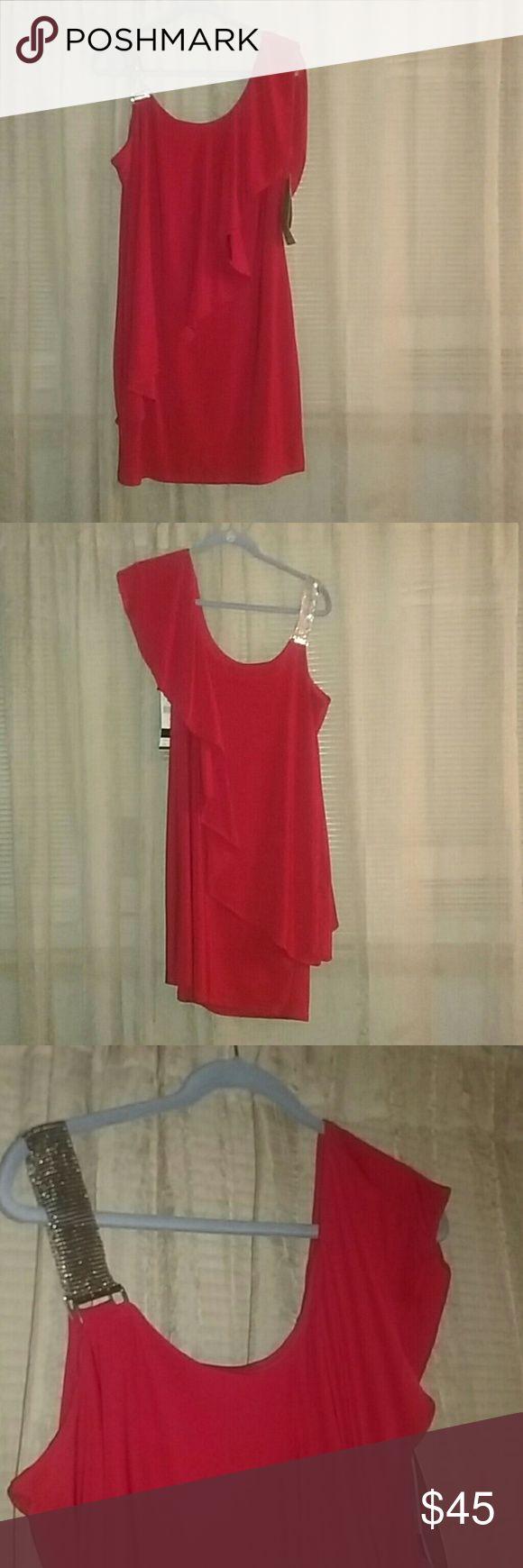 Ladies One Shoulder Red Dress Ladies One Shoulder Red Dress. Size 14 Scarlett Dresses One Shoulder