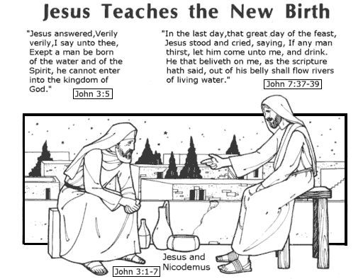 Nicodemus Coloring Pages | Bible study topics, Bible ...