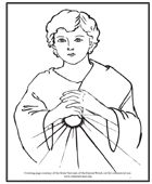 Coloring pages for all types of Catholic teachings