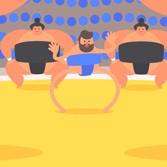Tokyo Gifathon Day 17 Sumo | James Curran