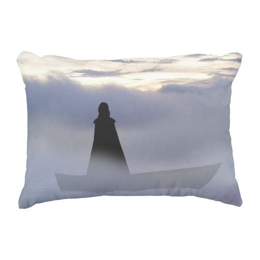 Lady of the lake pillow.  A Lady who had power over the elements through focusing the mind. Mystery and beauty.