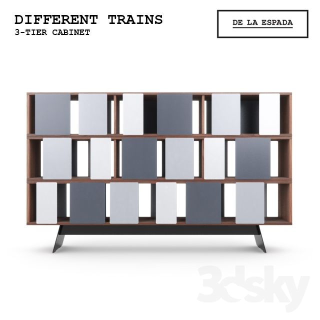 Different Trains 3-tier cabinet