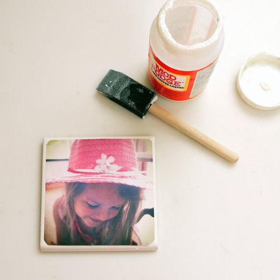 DIY Tile Photo Coasters - perfect for instagrams!